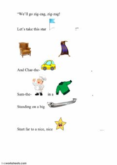 Interactive worksheet Armchair, Carpet and Char-the-Car, part 3