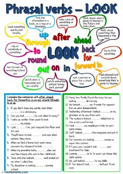 Interactive worksheet Phrasal verbs - look