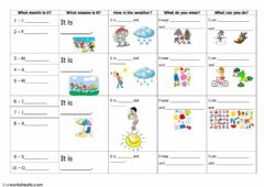 Interactive worksheet Months- clothes- activities