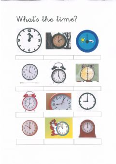 Interactive worksheet What's the time?
