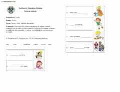 Healthy Habits worksheet preview