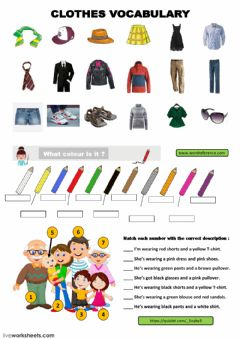 Ficha interactiva Clothes Vocabulary