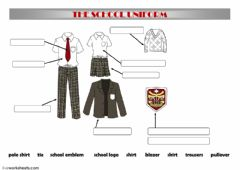 Ficha interactiva School uniform
