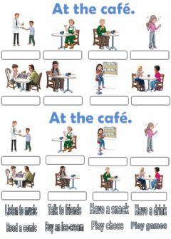 Interactive worksheet At the café. Drag and drop