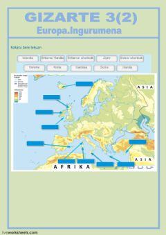 Interactive worksheet Europa