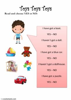 Interactive worksheet Toys for everyone 2