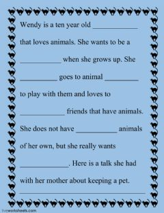 Interactive worksheet Having a pet