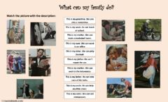 Ficha interactiva Family members and abilities