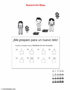 Interactive worksheet Numeración maya