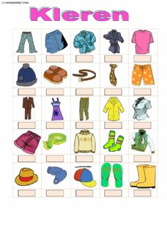 Interactive worksheet Kleren
