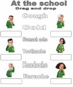 Interactive worksheet At the school. Drag and drop.2