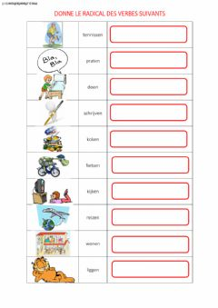 Interactive worksheet Radical du verbe
