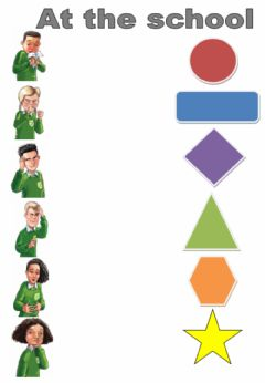 Interactive worksheet At the school. Listen and match 2