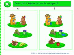 Interactive worksheet Busca las diferencias.