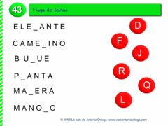 Interactive worksheet Fuga de letras