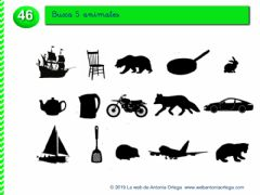 Interactive worksheet Busca 5 animales
