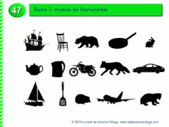 Interactive worksheet Busca 5 medios de transporte.