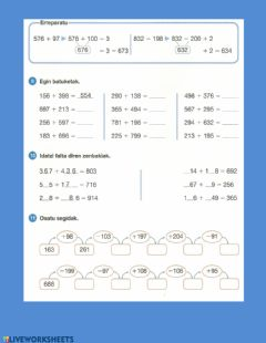 Interactive worksheet Kalkulua