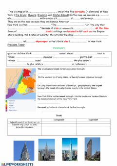 Interactive worksheet New York city
