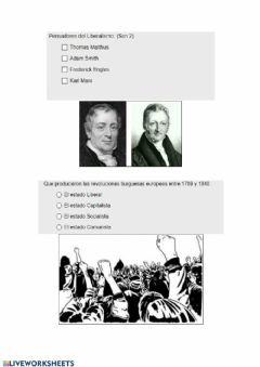 Interactive worksheet Liberalismo