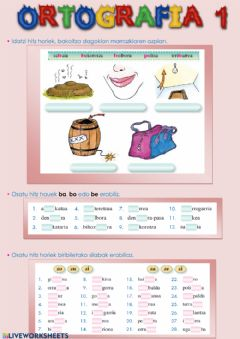 Interactive worksheet Ortografia 5.1