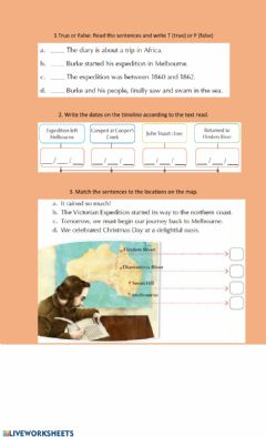 Interactive worksheet Richard Burke Expedition