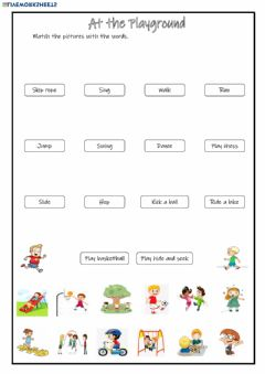 Interactive worksheet At the Playground