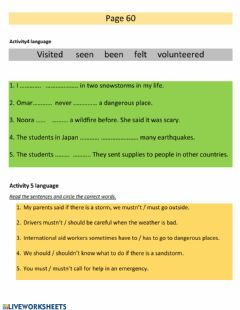 Interactive worksheet Modal verbs and present perfect