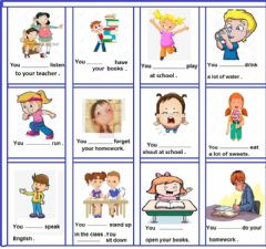 Interactive worksheet Must and mustn't