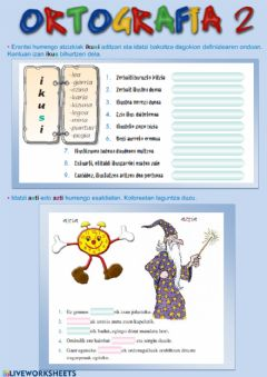 Interactive worksheet Ortografia 5.2