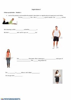Interactive worksheet Follow up activities