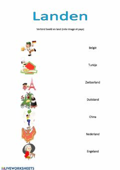 Interactive worksheet Landen