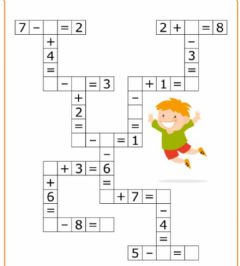 Ficha interactiva Math crossrword