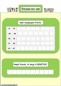 Interactive worksheet ZAPOREDJA