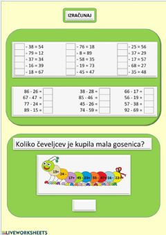 Interactive worksheet Računi
