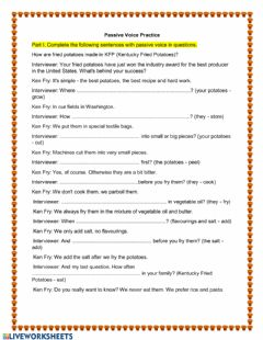 Ficha interactiva Passive Voice: Simple Present and Simple Past
