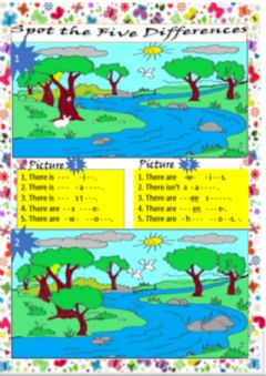 Interactive worksheet Spot the 5 Differences