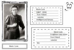 Describing famous people worksheet preview