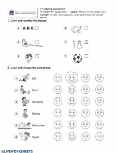 Interactive worksheet School subjects and sports