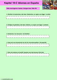 Interactive worksheet Kapitel 10C - uppgift 4 - åk 8