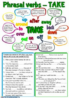 Interactive worksheet Phrasal verbs - Take