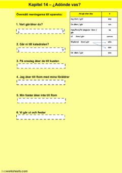 Interactive worksheet Kapitel 14 - uppgift 1 - åk 7