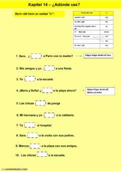 Interactive worksheet Kapitel 14 - uppgift 2 - åk 7