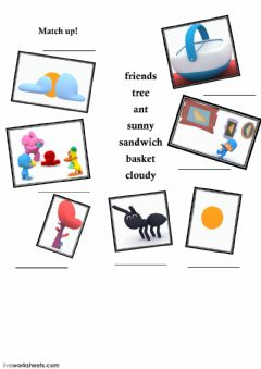 Interactive worksheet Weater words