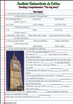 Interactive worksheet Reading comprehension the big story