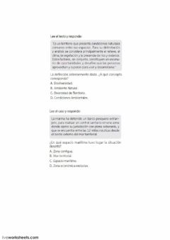 Interactive worksheet Chile