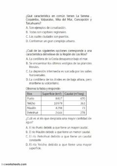 Interactive worksheet Chile 5