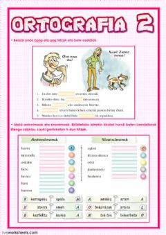 Interactive worksheet Ortografia 2