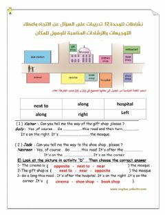 Interactive worksheet Tell the way to ...