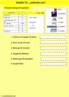 Interactive worksheet Kapitel 14 - uppgift 3 - åk 7